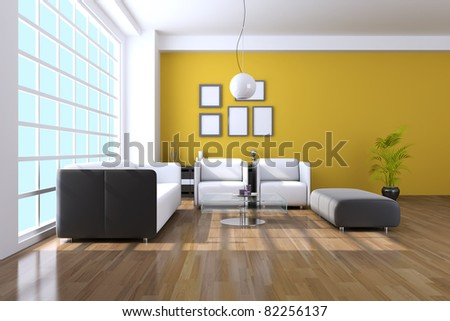 The sitting room of contemporary interior - stock photo