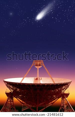 "The sketch ""Space"".Radio telescope ""Quasar"" 2 - stock photo"