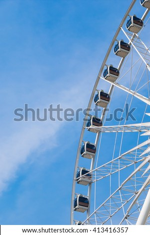 the sky above the clouds - stock photo