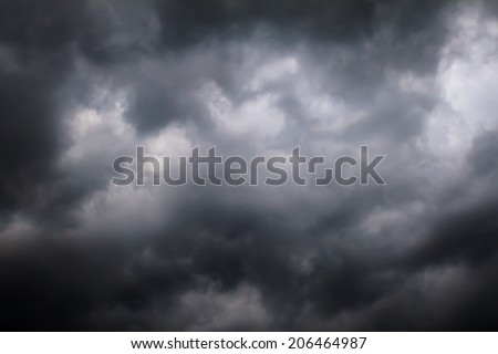 The sky and cloud before storm and raining  - stock photo