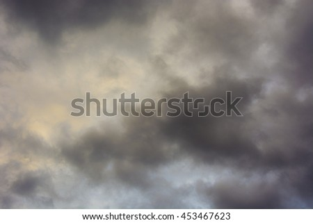 The sky before the storm - stock photo