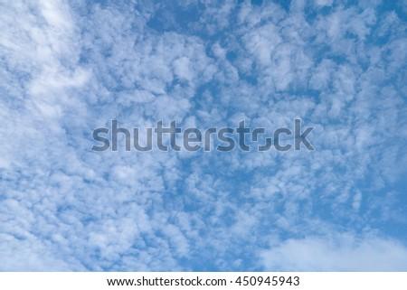 The sky is beautiful. - stock photo