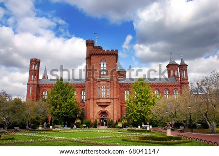 the Smithsonian Institution building - stock photo