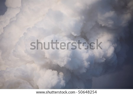 The smoke from the chimney at the power plants - stock photo