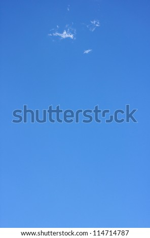 The soft  blue sky. - stock photo