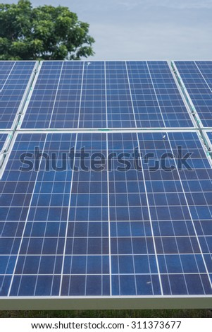 The Solar cells - stock photo