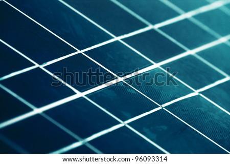The solar panel close up. - stock photo