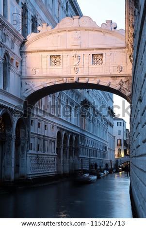 The Sospiri bridge in Venice, Italy - stock photo