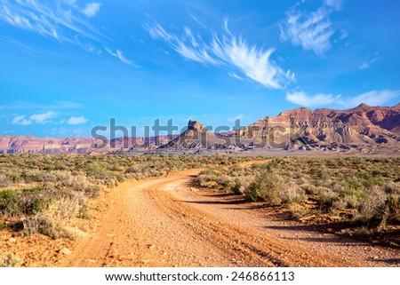 The Southwest landscape, Utah, US - stock photo