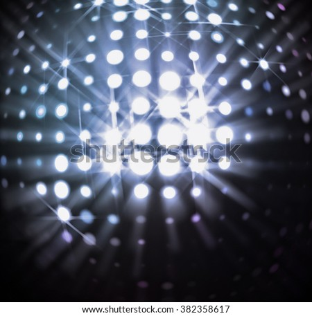 The spherical space with radiant light spots. - stock photo