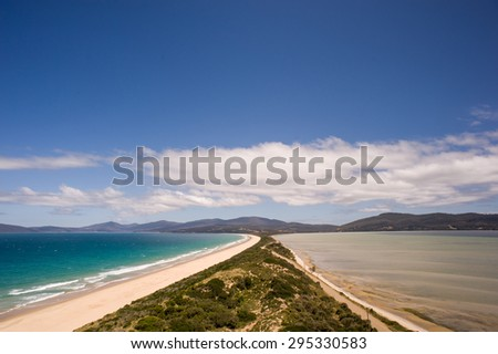 The Spit Lookout, Bruny Island, Tasmania, Australia - stock photo
