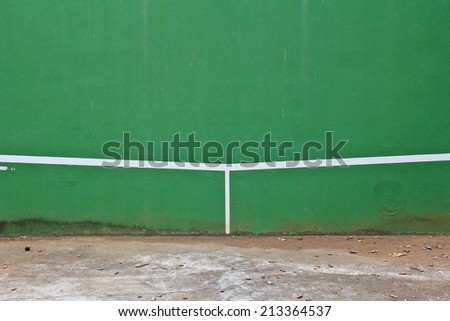 The squash court - stock photo