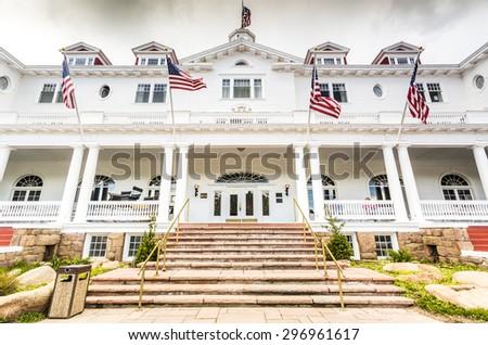 The Stanley Hotel, Estes Park, Colorado, USA - stock photo