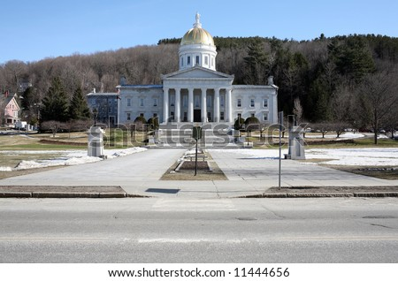 The State Capitol building in Montpelier Vermont - stock photo
