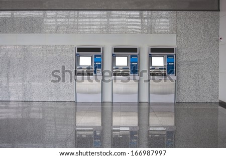 The station automatic machines, ATM machine - stock photo