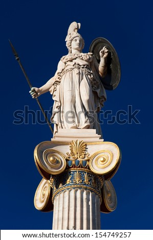 The statue of Athena. Greece. - stock photo