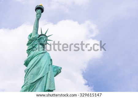 The Statue of Liberty in New York City USA - stock photo