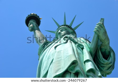 The Statue of Liberty, New York City, USA - stock photo