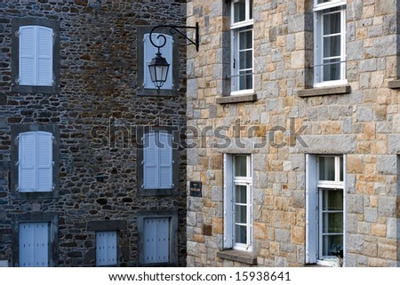 The Stone Walls of Saint Malo, France. - stock photo