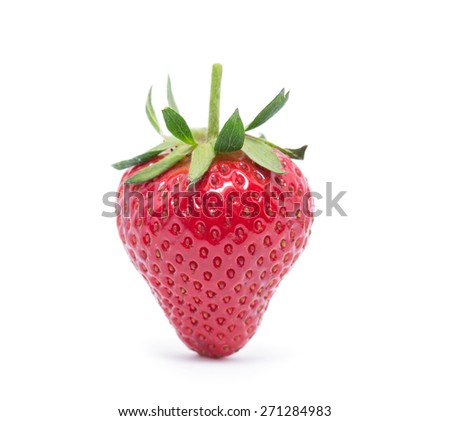 The strawberry isolated over white - stock photo