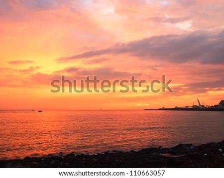 the subtropics beach - stock photo