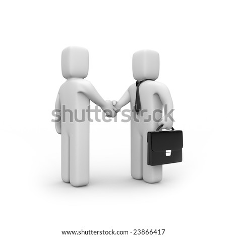 The successful agreement. Business concept. Isolated on white. - stock photo