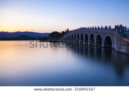 the summer palace of beijing/the summer palace of beijing--time lapse - stock photo