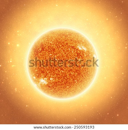 The Sun with Depth of Field Effect - Elements of this Image Furnished By Nasa - stock photo