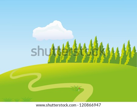 The sunny meadow - stock photo