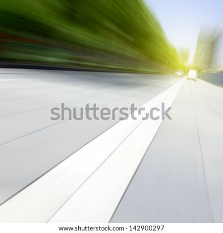 The Sunset light-Highway - stock photo