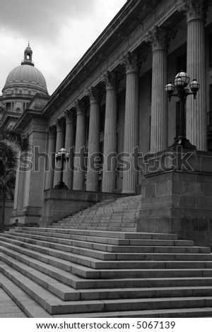 The supreme court building in Singapore City - stock photo