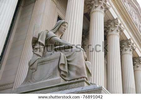 The Supreme Court building in Washington, DC - stock photo