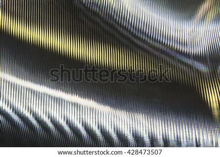 The surface of stainless steel after treatment at high magnification - stock photo