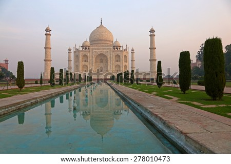 The Taj Mahal in Agra, India - stock photo