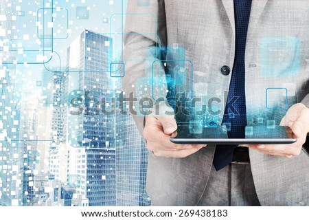The technology that develops in the future - stock photo
