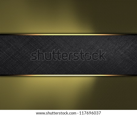 The template for the inscription. Gold Background with black name plate for writing. - stock photo