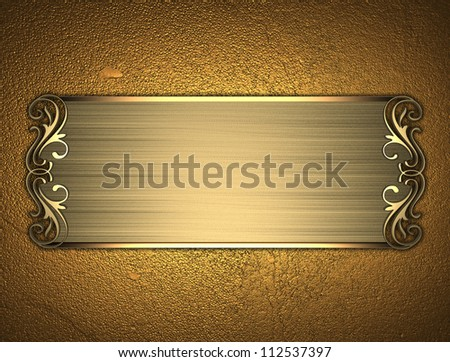 The Template For The Inscription Gold Background With