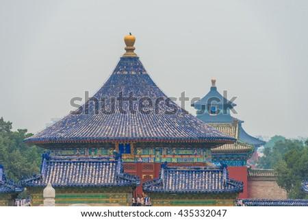 the Temple of Heaven (Tiantan), Beijing, China. - stock photo