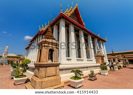 The temple of Wat Pho in Bangkok, Thailand . - stock photo