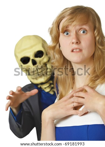 The terrible death came a young woman - stock photo