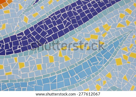 The texture of glossy colorful glazed tile background wallpaper pattern design - stock photo