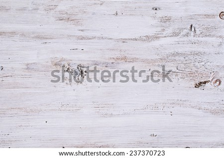 The texture of the white-painted wooden Board - stock photo