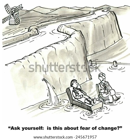 The therapist is asking if this is about fear of change.           - stock photo