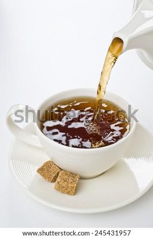 The Time of Tea Break - stock photo