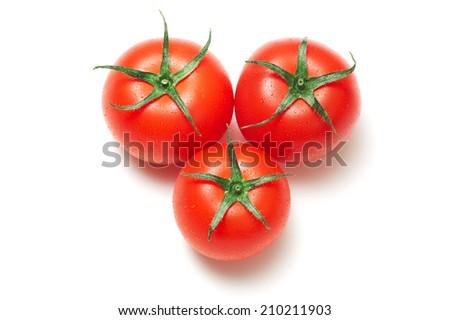 the tomato on white - stock photo