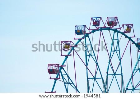 The top part big ferris-wheel - stock photo