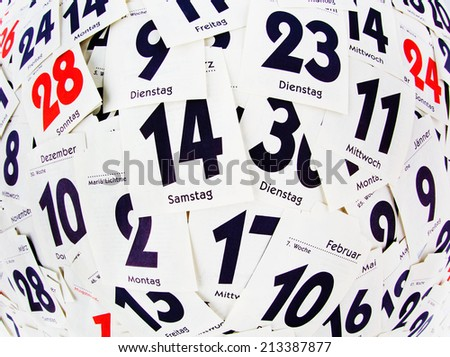 the torn days of a calendar. past the end. - stock photo