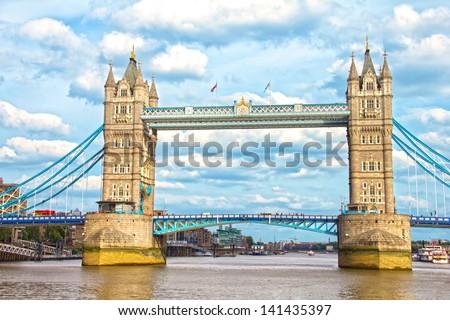 The Tower Bridge, London, UK - stock photo