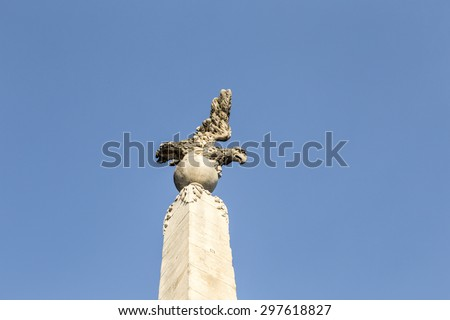 The tower in front of the Church of the Madeleine in Aix-en-Provence, France - stock photo