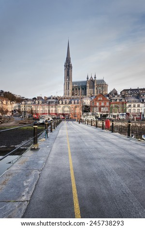 The town of Cobh in County Cork Ireland. - stock photo